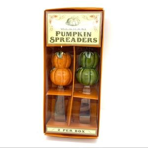 Williams Sonoma PUMPKIN SPREADERS Ceramic New